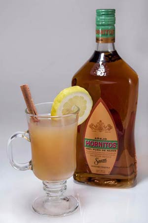 Horni Toddy with Hornitos Aejo Tequila