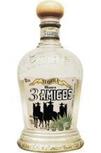 3 amigos tequila - blanco bottle - 2010