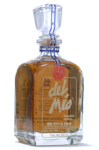 tequila del mio añejo especial in crystal decanter - aged 3 years