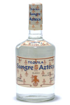sangre azteca blanco tequila - regular bottle - 2005