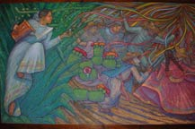 Part of a long mural at Mundo Cuervo, Tequila, Jalosco