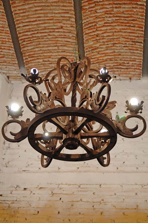 Wooden Chandeliers - Primitive Colonial Lighting