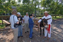 tourists sample tequila from pedro and cuckoo - san jose del refugio in amatitan, jalisco